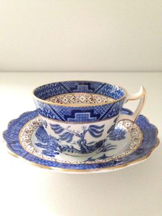 English Booths Real Old Willow Transferware Tea by MariasFarmhouse