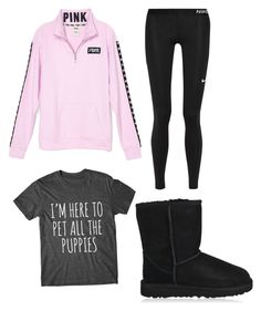 """Untitled #402"" by livgirl-10 ❤ liked on Polyvore featuring NIKE and UGG"