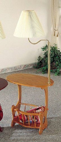 Save $76.00 On All New Item Oak Finish Wood Side Table With Magazine Rack  And Built