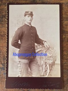 1880's - 1890's USMC Soldier cabinet portrait photo.  Part of the Abqpropguy Collection