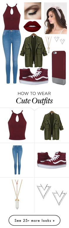 """""""Cute Outfit 4"""" by kenzfortz on Polyvore featuring Miss Selfridge, George, Original Penguin, Lime Crime, Nadri and Vans"""