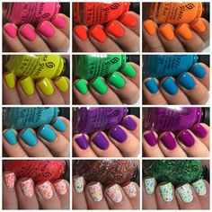 China Glaze Electric Nights Collection - NEED THEM ALL ;) haha