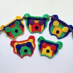 Crochet Teddy, Crochet Yarn, Craft Patterns, Crochet Patterns, Crafts To Make And Sell, Bunting, Babyshower, Teddy Bear, Etsy