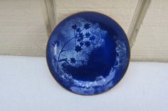 25% OFF  Vintage Navy Blue White Spatter Flower and by Framarines