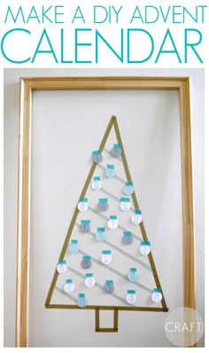 The holiday season is the perfect time to create in your home. Try this DIY project by Jamie over at C.R.A.F.T. to add a little holiday spirit to your home! I'm pregnant with my first little bambino, and I can't stop thinking about fun Christmas things to do with kids! As a kiddo, my mom always did an advent calendar with us, so I decided to attempt my own. A DIY advent calendar is a pretty simple craft to make, all you need is: Washi tape Card stock Black pen Blank wall Circle cutter Fir...