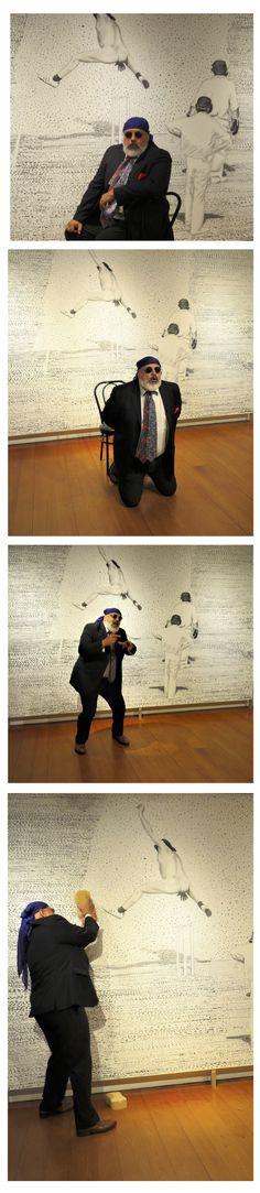 Moment intime dans l'action et la non action ... du geste ... avec le poids de l'effacement, de la déconstruction et de l'admiration. Cette intervention filmée mettait fin à la 8e Biennale nationale de sculpture contemporaine 2018. L'équipe de la Galerie d'art du Parc remercie le psycho-poète Pablo Poblète, Carolane St-Pierre et à Yves Brodeur pour leur précieuse complicité dans cette finale pleine d'intensité! Admiration, St Pierre, Galerie D'art, Moment, Action, Contemporary Sculpture, Contemporary Art, Park, Group Action