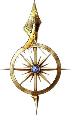 cool spear fantasy concept nautical compass