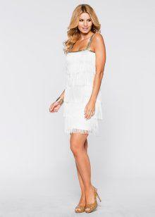 Платье с бахромой, BODYFLIRT boutique, цвет белой шерсти