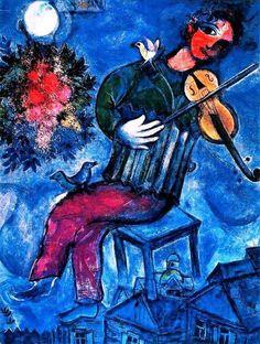 Marc Chagall Le violoniste sur le toit.