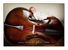 newborn photo upright bass - Google Search