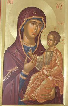 Madonna and Child Byzantine Icons, Byzantine Art, Blessed Mother Mary, Blessed Virgin Mary, Religious Icons, Religious Art, Roman Church, Christian Artwork, Holy Mary