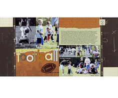 Football Scrapbook Pages