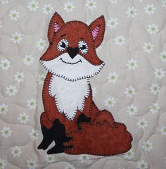 Happy New Year, from our friendly fox!  Instant download, and sew cute.  :o) http://etsy.me/2CHmteb #supplies #quilting #pdfappliquepattern #babyquilt