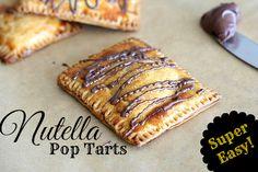 Nutella Pop Tarts Recipe - #nutella