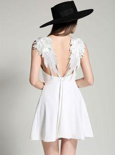 """Boho Angel Wing Mini Dress"" suggested by Florentine Overko"