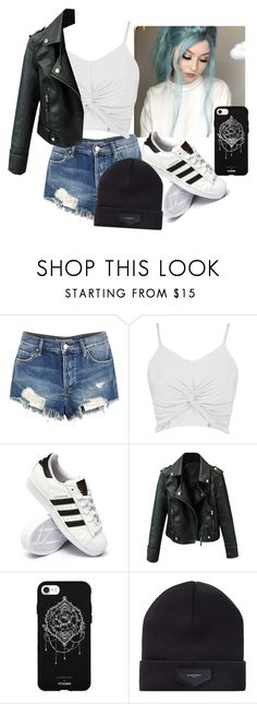 """~The Bad Girl In Out Small Town~"" by baby-livie ❤ liked on Polyvore featuring Free People, Boohoo, adidas, Fifth & Ninth and Givenchy"