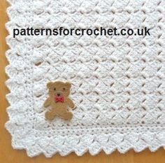 FREE crochet pattern for the Premature Shawl by Patterns For Crochet. The finished size measures 21 by 21 inches.