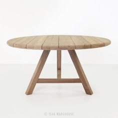 """Toni Reclaimed Teak Round Outdoor Table BUT 59"""" (and $2700)"""