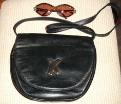 Paloma Picasso Chic Vintage Italy Black Leather Handbag by 2Karat, $75.00