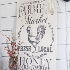 Farmers Market - IOD by Prima Decor Transfers Farm House Images, Farmhouse Design, Farmhouse Decor, Wood Transfer, Iron Orchid Designs, Iron Decor, Diy Wall Decor, Diy Projects To Try, Orchids