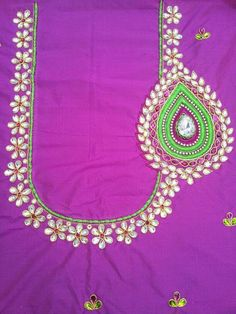Cutwork Blouse Designs, Kids Blouse Designs, Embroidery Neck Designs, Bead Embroidery Patterns, Embroidery Works, Bridal Blouse Designs, Aari Embroidery, Embroidery Blouses, Magam Work Designs