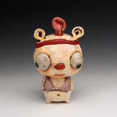 "Tammy Marinuzzi, ""Dress Up"" 7"" x 4"" x 3"" ceramic"