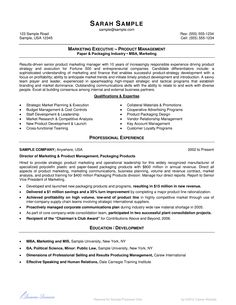 Marketing sales executive resume examples pinterest for Careercup resume template