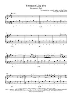Someone Like You by Adele Piano Sheet Music | Intermediate Level