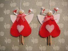 natale - Mirilla mirilla - Álbuns da web do Picasa...Adorable clothespin heart angels!..Inspiration only!