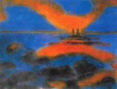 Emil Nolde, Lever de soleil sur la mer, 1927