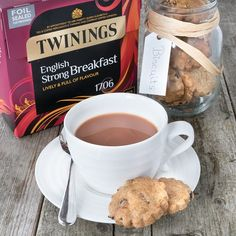 Bara Brith biscuits - A crunchy spiced shortbread biscuit with orange zest and tea-infused raisins. Bara Brith, Twinings Tea, Shortbread Biscuits, Orange Zest, Tea Infuser, Raisin, Good Food, Spices, Breakfast