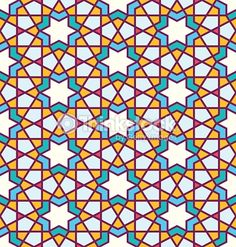 Vector Art : Tangled Pattern based on traditional arabic