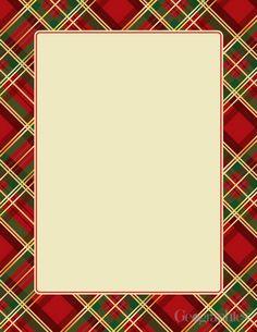 French Horn Damask Christmas Letterhead X Pk