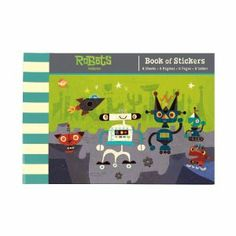 Robots Book of Stickers by Mudpuppy. $5.99. 8 sheets of stickers. 70+ stickers per sticker book. Perforated sheets: removable for sharing. Phthalate-free and printed with nontoxic inks. From the Manufacturer                Start Stickering. These stickers from Mudpuppy are perfect for decorating notebooks, adding to drawings, or even on letters to Grandma.