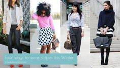 Need some winter wardrobe inspiration?  Shop the style with Four ways to wear stripes this Winter on Stylescene.