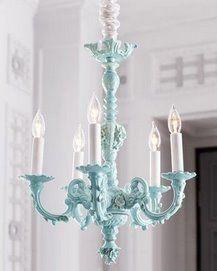 baby blue chandelier...pretty!!!  #matildajaneclothing  #mjcdreamcloset
