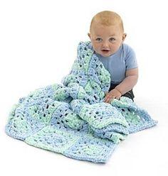 Ravelry: Super Soft 'Granny' Baby Blanket pattern by Lion Brand Yarn