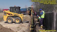 ROBOTERR SEWERAGE™ - Robot de Construcție Canalizare | Patent Românesc