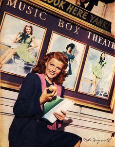 Rita Hayworth, 1944, vintage, actress.