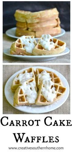 The family called this one a keeper! A wonderful waffle recipe that tastes like carrot cake.  An easy, gourmet waffle recipe.  www.creativesouthernhome.com