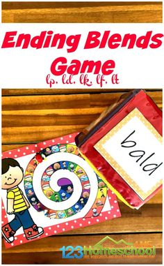 Looking for a fun way for first grader to practice Ending Blends? This fun phonics game helps improve skills to become better readers and spellers. Phonics Games For Kids, Teaching Phonics, Phonics Activities, Blends Worksheets, Worksheets For Kids, Fun Learning, Learning Activities, Learning Spanish, Teaching Resources