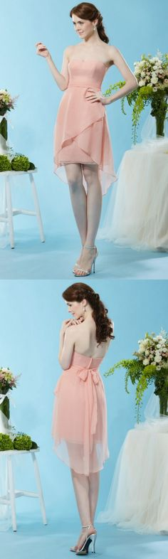 Blush Bridesmaid Dresses, Overlays, High Low, Bodice, Chiffon, Ballet Skirt, Elegant, Skirts, Pink