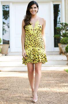 Vestido de onça amarelo!