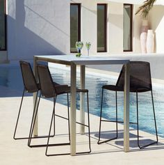 Intricate woven design and chic angled legs make BOXHILL's Breeze Bar Chair ideal for any trendy outdoor lounge! Crafted for comfortable, maintenance-free living, this stylish chair is the perfect addition to any bar setting. To learn more visit us at www.shopboxhill.com