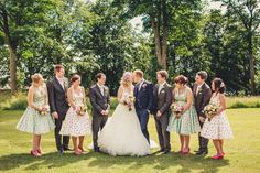 A Very British 50's Retro and Colourful Afternoon Tea Style Wedding