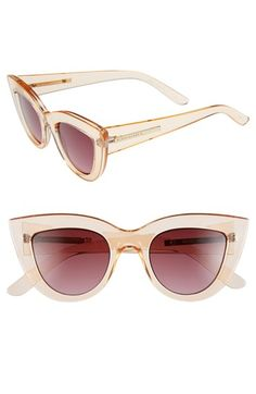 The Los Angeles weather is near constant sun, so shades are a definite essential. This pair of  Cat Eye Sunglasses by BCBGMAXAZRIA are classic with a modern twist.