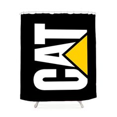 Caterpillar Logo Black Shower Curtain