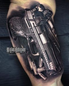 Live is a risk 👊🏻 ____________________ Done with 💉 Gangster Tattoos, Chicano Tattoos, Badass Tattoos, Tattoos For Guys, Cool Tattoos, Pistol Tattoos, Glock Tattoo, Kugel Tattoo, Bullet Tattoo