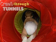 Crawl-Through Tunnels ♥ Lots of fun for babies, toddlers and kids ♥