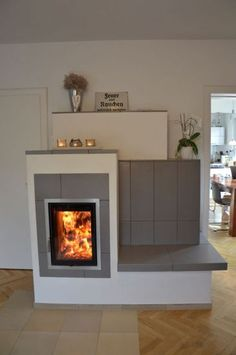 Modern Fireplace, Fireplace Design, Rustic Ovens, Room Partition Designs, Cute Apartment, Stove Fireplace, Rocket Stoves, Four, Ideal Home
